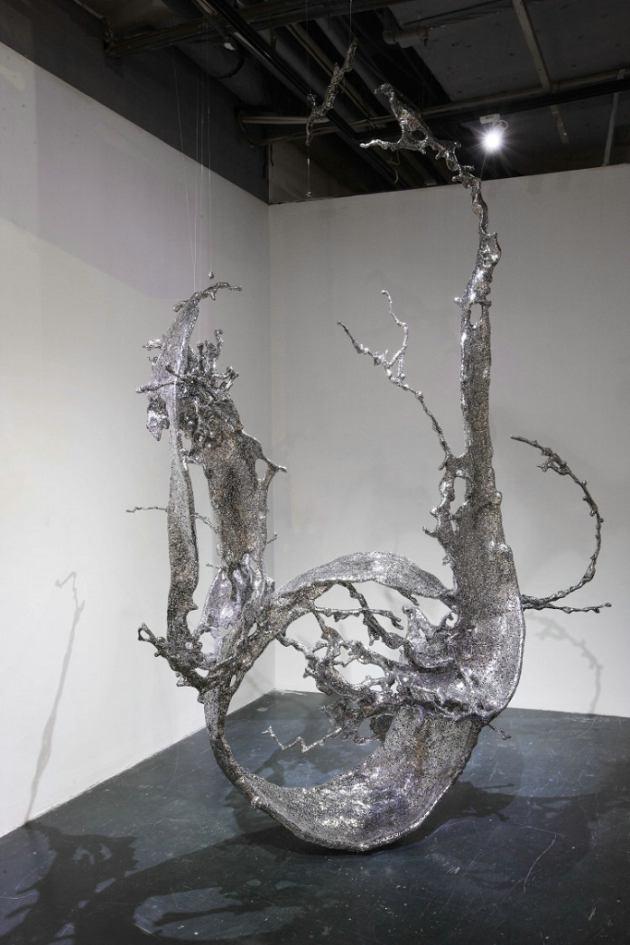 钢铁雕塑艺术家携环保艺术作品走进长沙乡村