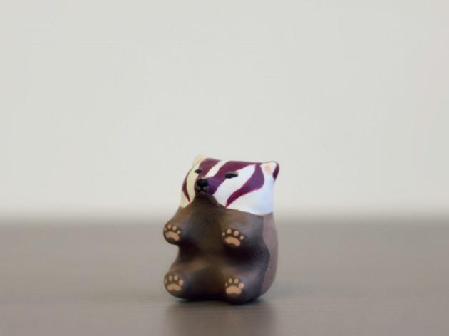 可爱的动物粘土小玩偶