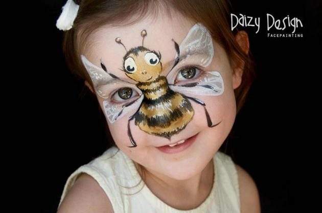 画给孩子们的脸部彩绘
