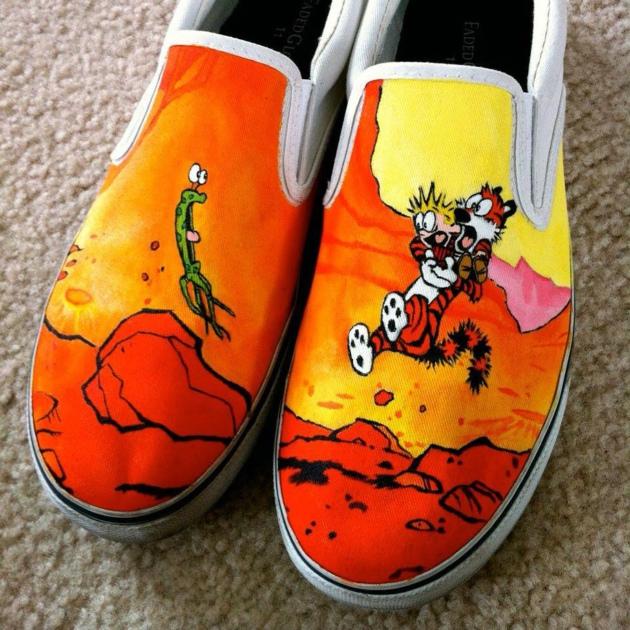 鞋子的手绘艺术