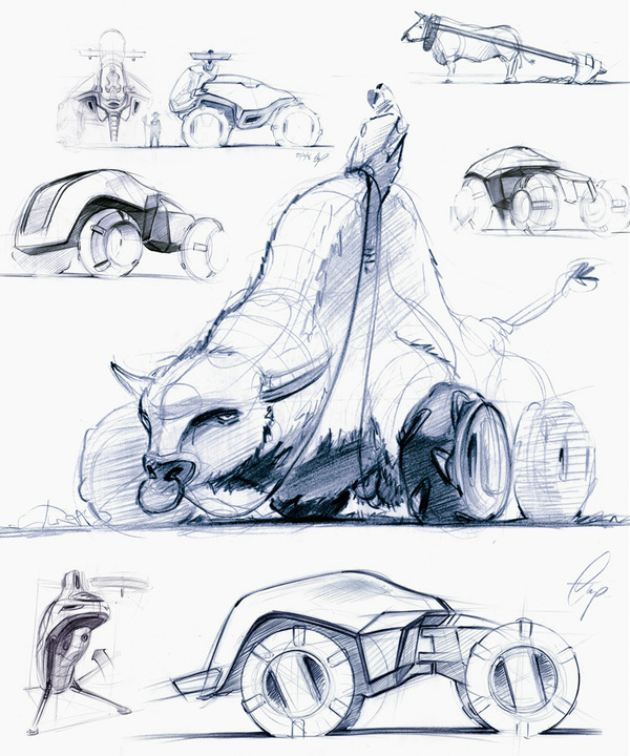 重型拖拉机概念设计