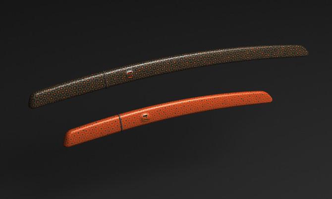 马克纽森设计的武士刀(aikuchi)