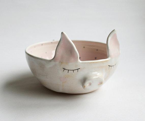 可爱的手工动物陶艺