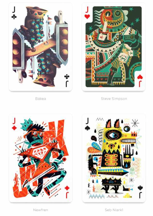 54位艺术家绘制54张扑克牌