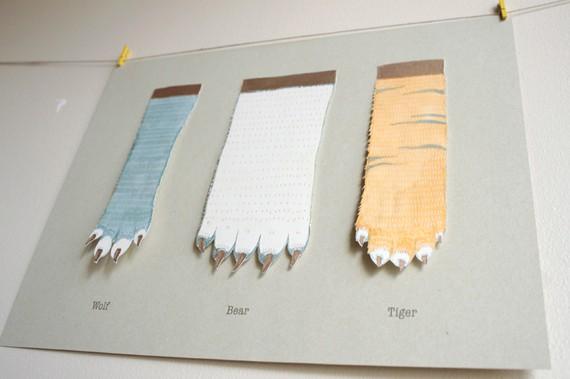 纸爪子折法步骤图解