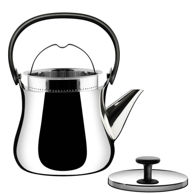 让你可以在手远离热源的同时握紧茶壶,壶盖上的把手也是黑色热塑性