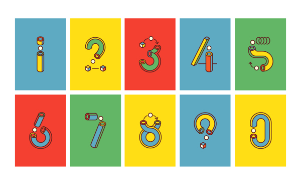 一同欣赏下这组有趣味的数字动态字体吧!