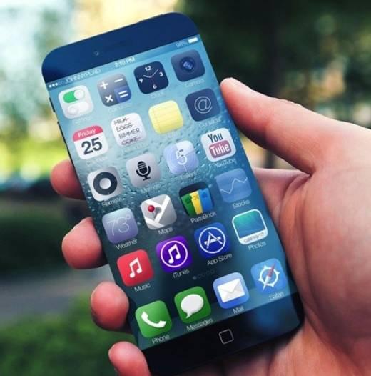如图是苹果手机的无边框设计谍照